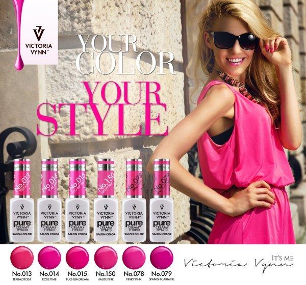 015 Fuchsia Dreams - kremowy lakier hybrydowy Victoria Vynn PURE (8ml)