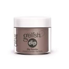 Puder do manicure tytanowy - GELISH DIP - Latte Please 23 g - (1610077)