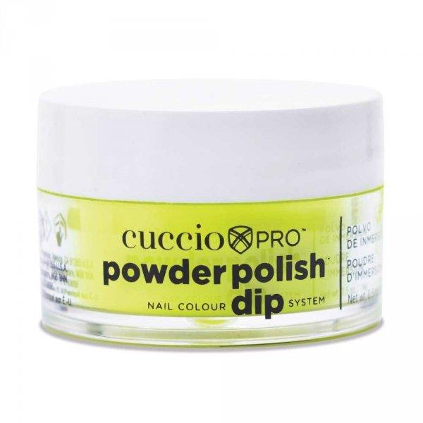 Cuccio manicure tytanowy - 3073 DIP SYSTEM PUDER Neon Yellow 14 G