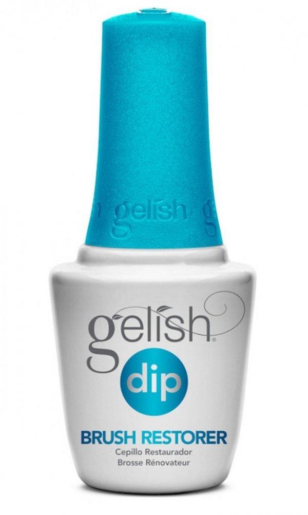 GELISH DIP BRUSH RESTORER Manicure tytanowy krok 5  - czyszczenie pędzelka 15ml