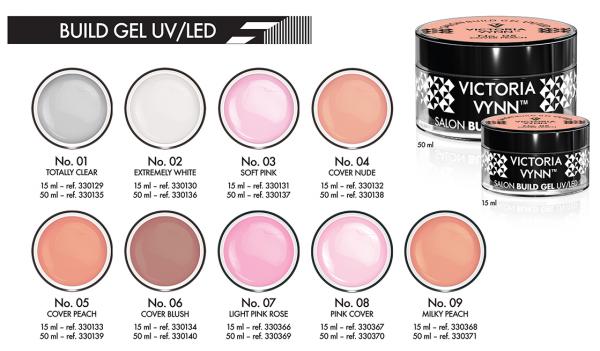 No.03 Delikatny różowy żel budujący 15ml Victoria Vynn Soft Pink