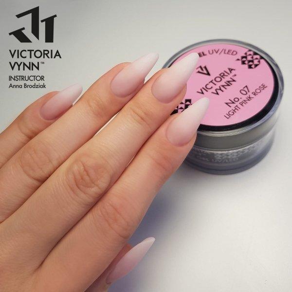 No.07 Delikatny różowy żel budujący 50ml Victoria Vynn Light Pink Rose  - do przedłużania paznokcia