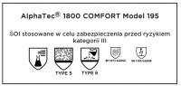 Kombinezon ochronny XL typ 5/6 AlphaTec® 1800 COMFORT - model 195