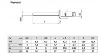 Nit zrywalny 4x20 AL/ST ISO 15977 - 1kg