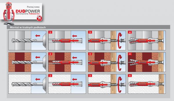 Kołek rozporowy duopower 6x50 - 100 szt (538240)