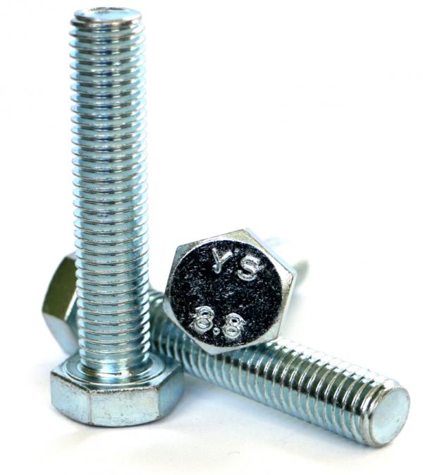 Śruby M8x60 kl.8,8 DIN 933 ocynk - 1 kg