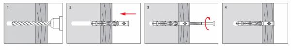 Kołki rozporowe 12x140 KKX - 50szt