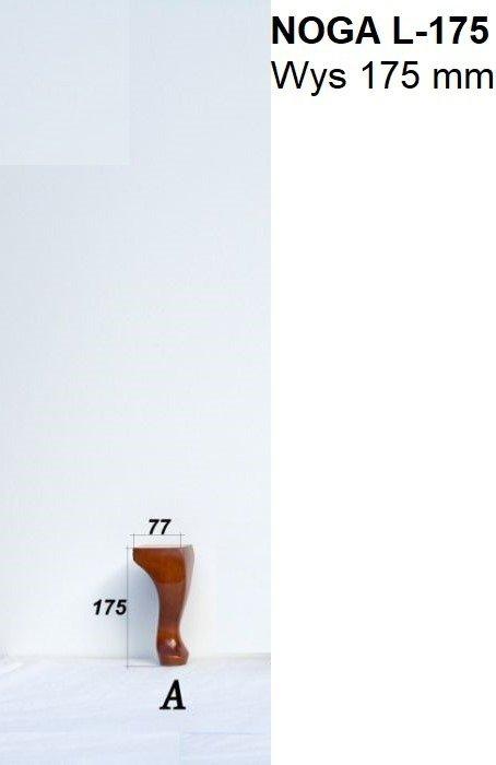 Noga drewniana do mebli L - 175