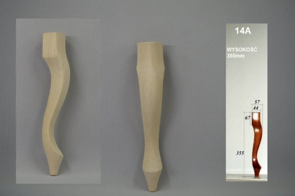 Noga drewniana do mebli 14 A