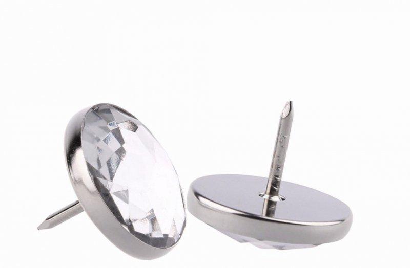 gwoździe tapicerskie kryształ fi 25mm proste