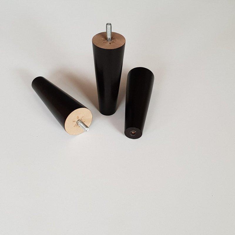 Noga drewniana do mebli 13 B/stożek prosty/venge