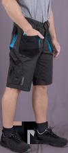 stalowo-czarno-niebieski
