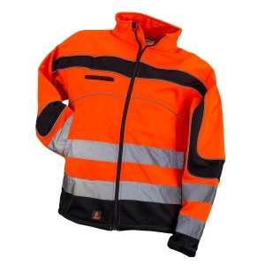 KURTKA SOFTSHELL ODBLASKOWA URGENT ORANGE
