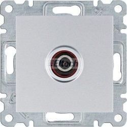 lumina Gniazdo pojedyncze TV dla instalacji indywidualnych, srebrny WL3212