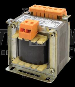 Zwykły transformator jednofazowy 230V / 24-42-110V, max.100VA TVTR-100-D