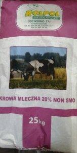 Krowa Mleczna 20% granulat NON GMO  25kg