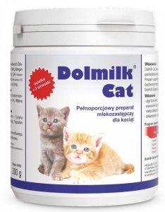 Dolmilk Cat - pełnoporcjowy preparat mlekozastępczy dla kociąt (z butelką i smoczkami).200g