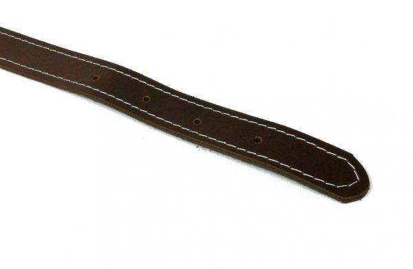 Obroża skórzana ciemnobrązowa 45cm
