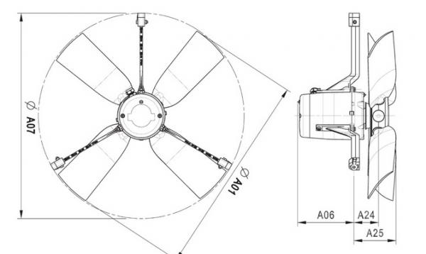 Wentylator kominowy 4E63 12020m³/h
