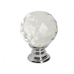 Gałka meblowa GP14 - chrom - kryształ