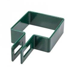 Obejma końcowa 40x40 zielona - 1 sztuka