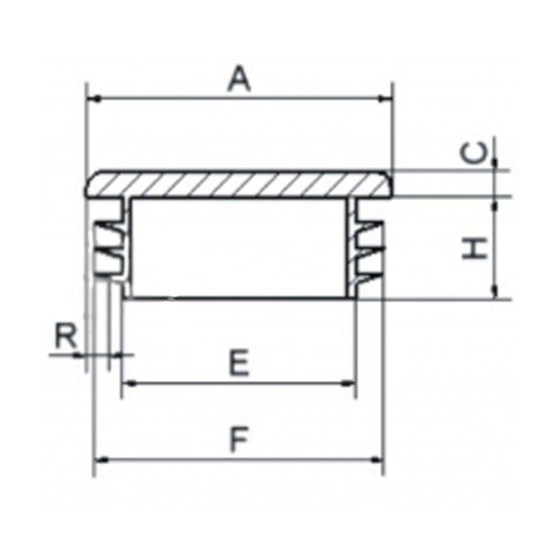 Zaślepka kwadratowa 40x40mm (ść. 3,0-5,0) - 20 sztuk