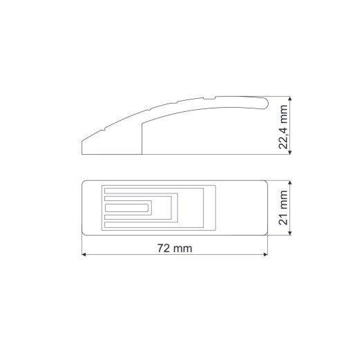 Gałka meblowa GR27 - chrom