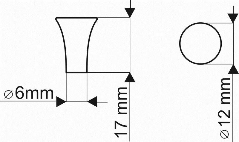Gałka meblowa GG45 - chrom