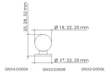 Gałka meblowa GN34 - mosiądz