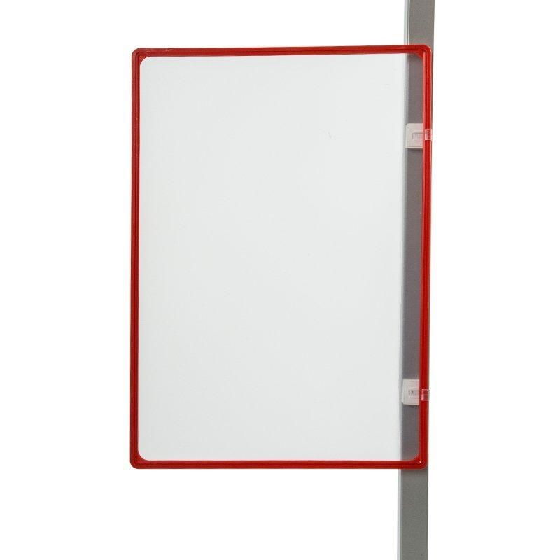 Ramka plakatowa A3 + uchwyty magnetyczne równoległe