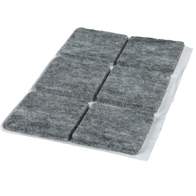 podkładki filcowe 45x45 szare