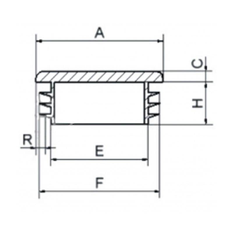 Zaślepka kwadratowa 60x60mm (ść. 3,0-5,0) - 1 sztuka