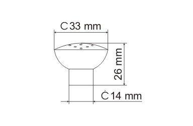 Gałka meblowa GG10 - chrom satynowy