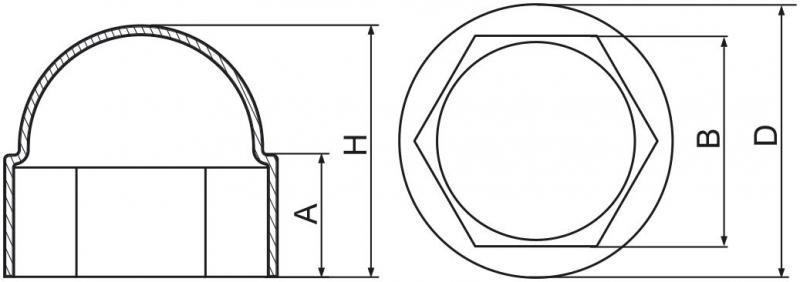 Maskownice śrub M8 - 100 szt