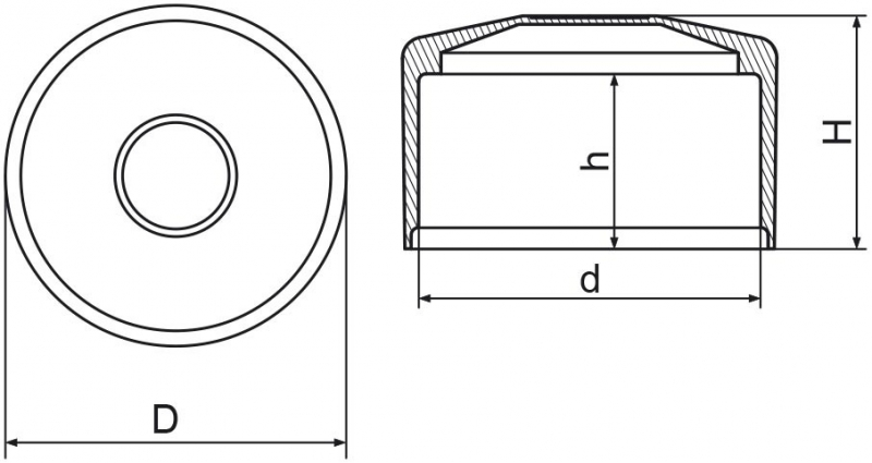 Nasadka na słupek ogrodzeniowy 76mm - 1 sztuka