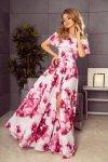 Sukienka Model 194-2 Pink Flowers