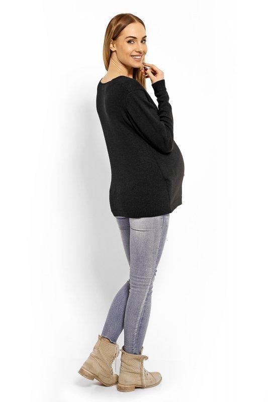2199c5c74b Sweter Ciążowy Model 40002C Black - Odzież ciążowa - Odzież - XELKA ...