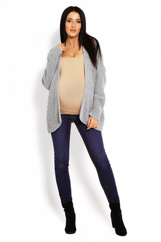 bc90788d6e Sweter Ciążowy Model 70010C Grey - Swetry rozpinane