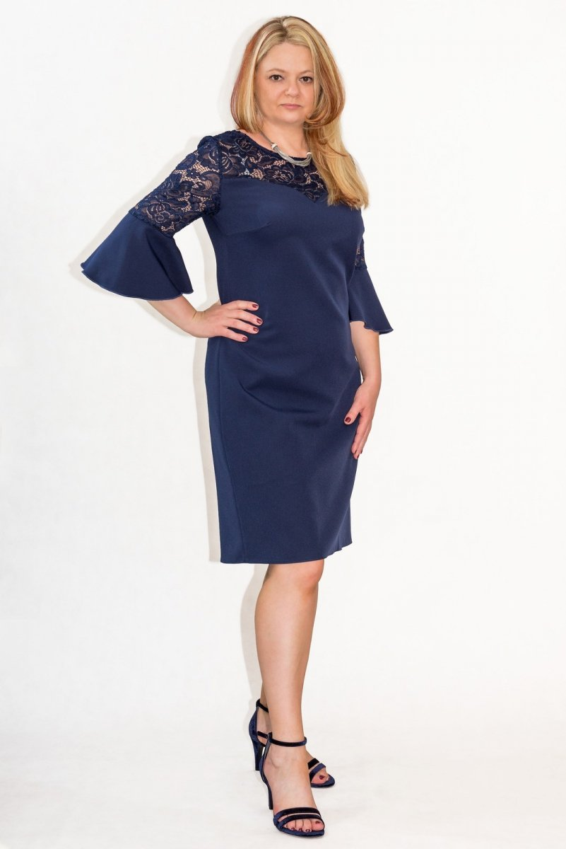 1342d70e7a Elegancka sukienka XXL 40-60 na wesele PAOLA duże rozmiary - XELKA ...