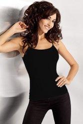 Koszulka damska XL-XXL plus size BLACK na ramiączkach Model DP 900-001