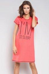 Koszula Nocna Model Wiwa kr.r. Malina