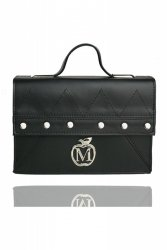 Sztywna torebka teczka MANZANA w zygzak 840J Black ćwieki