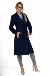 Wiosenny płaszcz z paskiem Bella PLA035 Navy