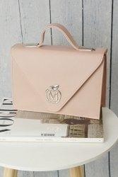Sztywna torebka teczka klasyczna 843B Powder Pink