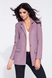 Krótki płaszcz flauszowy damski 275 Pink