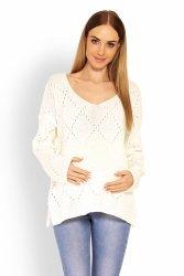 Sweter Ciążowy Model 30058C Ecru