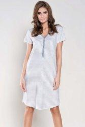 Koszula Nocna Model Wanessa kr.r. White/Melange