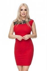 Sukienka S-XL 0108 czerwona