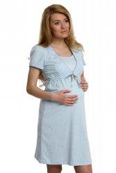 Koszula Nocna Model Felicita kr.r. Blue