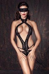 Komplet damski XXXL bielizna erotyczna plus size ALEXANDRA Black